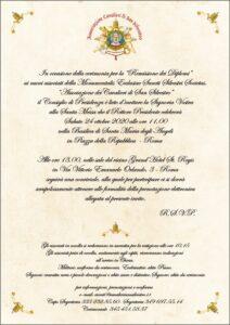 Protetto: Cerimonia per la Remissione dei Diplomi