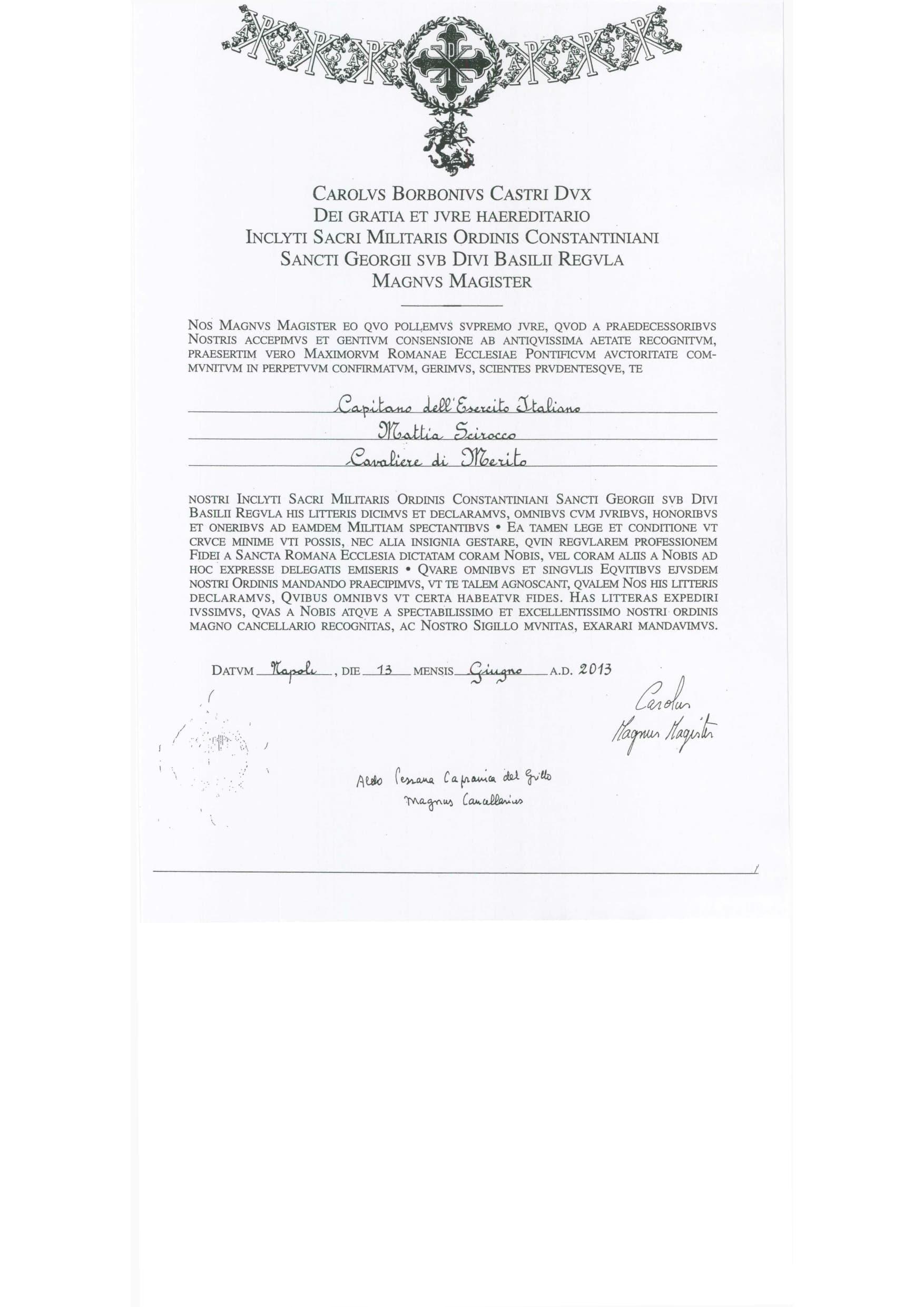 SACRO MILITARE ORDINE COSTANTINIANO DI S. GIORGIO