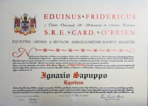 Read more about the article Cav. Ten. Col. Dott. Ignazio SAPUPPO