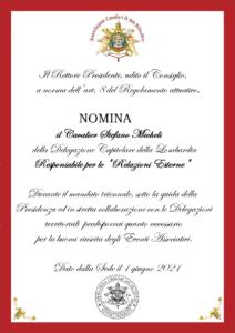 """Read more about the article Nomina del Responsabile """"Relazioni Esterne"""""""